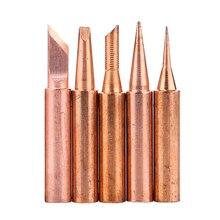Punta de pistola para soldar de cobre puro 900M T, puntas de soldadura sin plomo, cabezal de soldadura BGA, 5 unids/lote