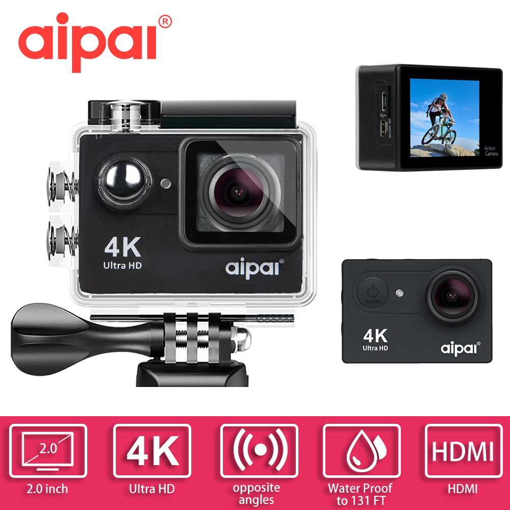 Aipal H9 / H9R 4K Action camera WiFi remote Ultra 1080P extreme Sport camera 2.0 LCD  40m waterproof Outdoor hd CAR DV Mini Cam