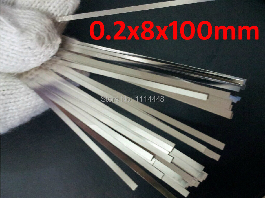 0.2 x 8 x 100mm 100pcs Pure Nickel Plate Strap Strip Sheets 99.96% for battery spot welding machine Welder Equipment welder machine plasma cutter welder mask for welder machine