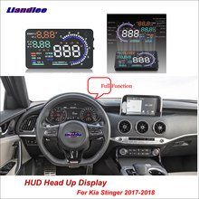 Liandlee Car Head Up Display HUD For Kia Stinger 2017-2018 Safe Driving Screen OBD II Speedometer Projector Windshield