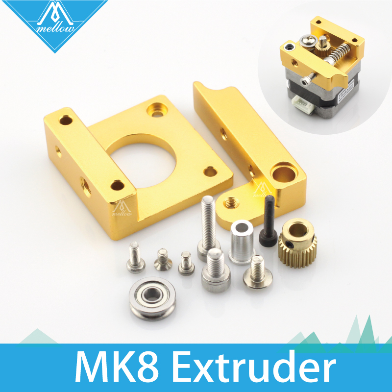 3D printer extruder full metal extrusion head MK8 DIY Aluminium block assemblies extruder 3D printer printing head accessories