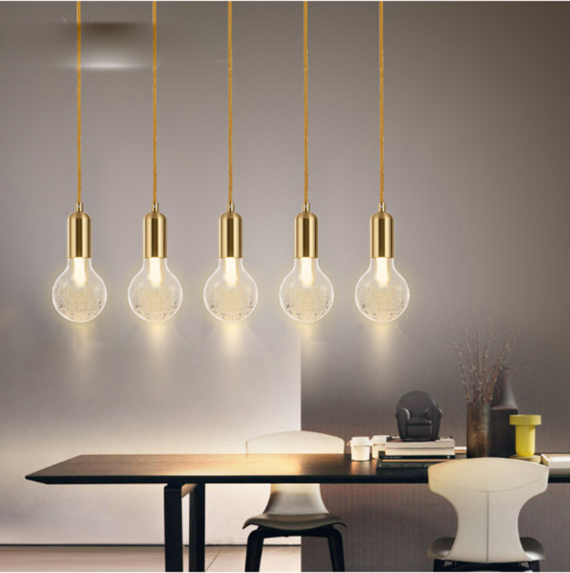 Circular Glass Simple Pendant light Modern Fashion White Lamps For Dining Room Restaurant Bedroom Living Room Shape LED 1 light simple modern cloth matal led pendant light for bedroom dining room living room bulb included white black gold silver