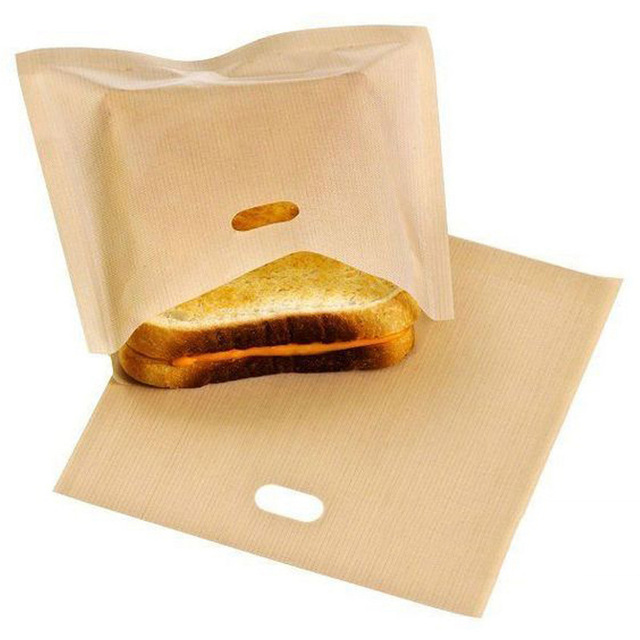 Hot Sale 1/2pcs Toaster Bags for Grilled Cheese Sandwiches Made Easy Reusable Non-stick Baked Toast Bread Bags Home Supplies 5