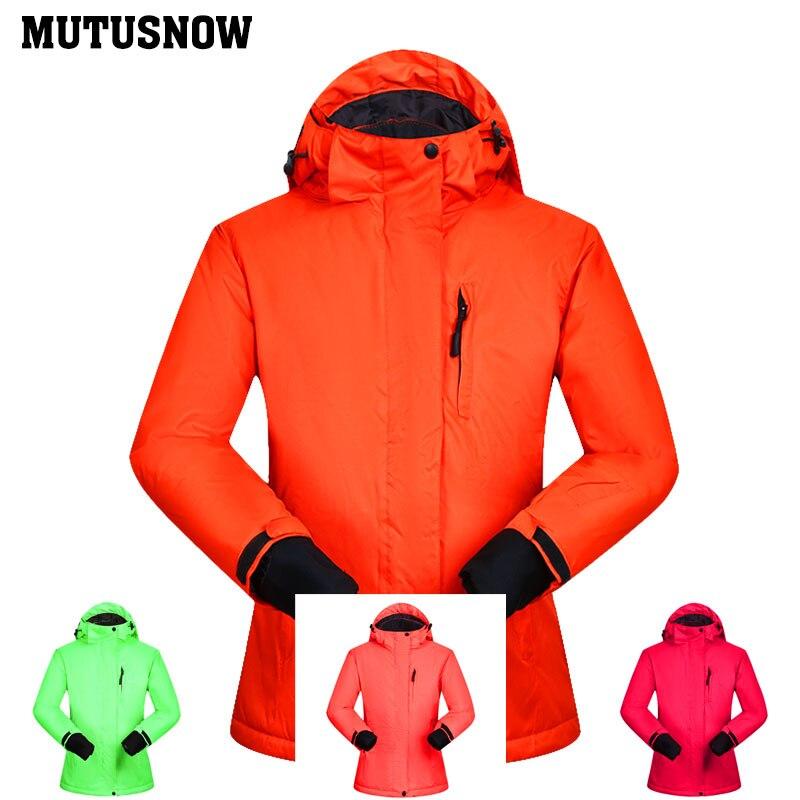 Winter Ski Jacket Women Windproof Waterproof Breathable Female Snow Coats Thermal MHSJ Outdoor Skiing and Snowboarding