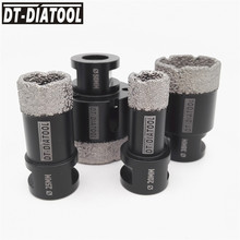 DT-DIATOOL 4pcs/pk Dry Vacuum Brazed Diamond Drilling Core Bits Hole Saw Granite Marble for Ceramic Tile Drill Bits M14 thread diatool diameter 40mm vacuum brazed diamond drilling core bits with 10mm diamond height hole saw granite marble ceramic