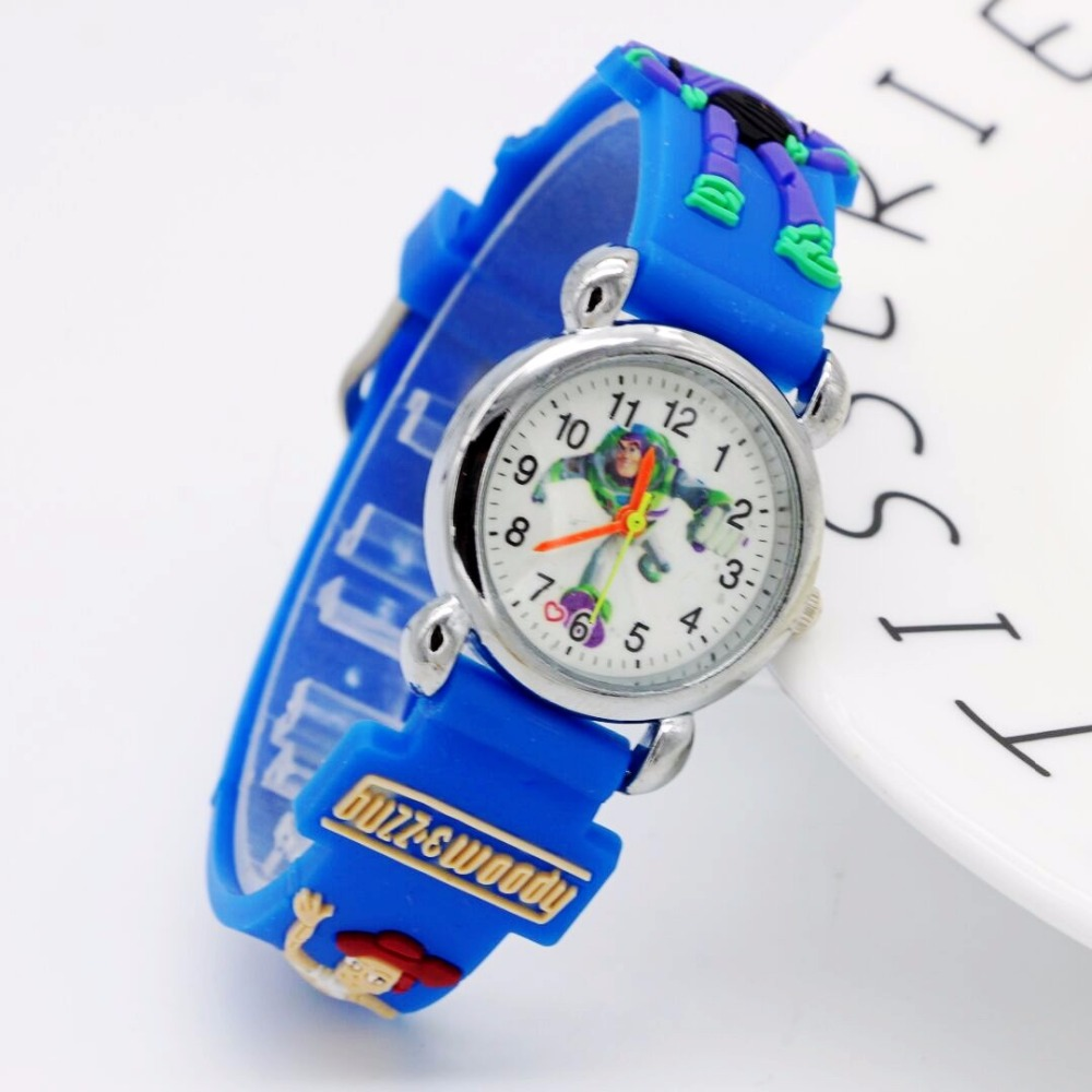 New Arrival Toy Story 3D Cartoon Lovely Kids Girls Boys Children Students Quartz Wrist Watch Mickey Minnie Kids Watch