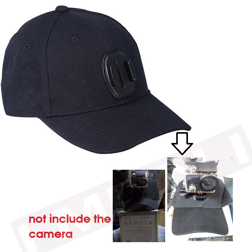 Camera canvas Sun Hat Cap with Base Sports Camera hat For Gopro Hero 4 3 5 EKEN H9 H3R H8 xiaomi yi Accessories SJCAM SJ4000