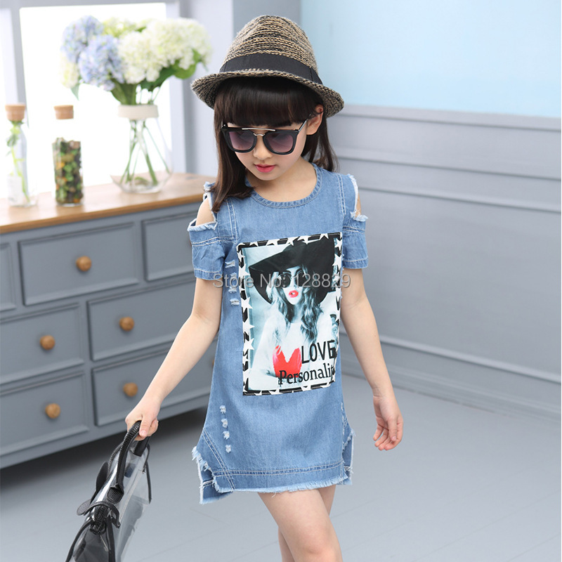 Denim Dresses For Girls (2)
