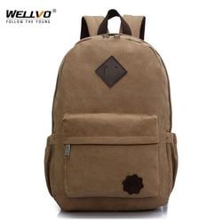 Sac à dos pour ordinateur portable en toile hommes adolescents garçons sacs à dos grand sac d'école Vintage étudiants voyage sac à dos sacs à bandoulière noir XA1054C