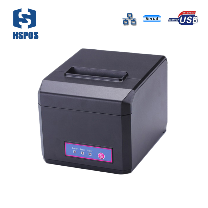 Pos thermal 80mm receipt printer usb serial lan interfaces POS ticket printer with auto cutter 100-240V power impressora termica high quality 80mm usb serial lan wifi port thermal receipt printers support opos driver pos printer with led beeper auto cutter