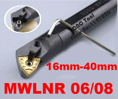 1P 95° S16Q-MWLNR06 CNC Lathe Turning Tool Holder For WNMG0604 Inserts