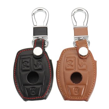 Автомобильный кожаный чехол для ключей, чехол для Mercedes-Benz W124 W202 W 210 W210 W211 W204 C E S Cls Clk Cla Slk Ml Class