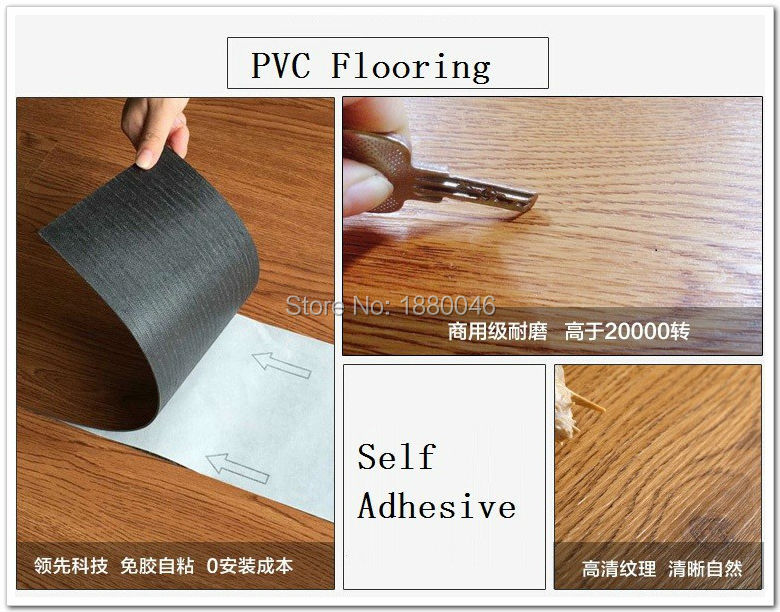 Brand New 2 Square Meters pvc floor Self adhesive pvc flooring wood ...