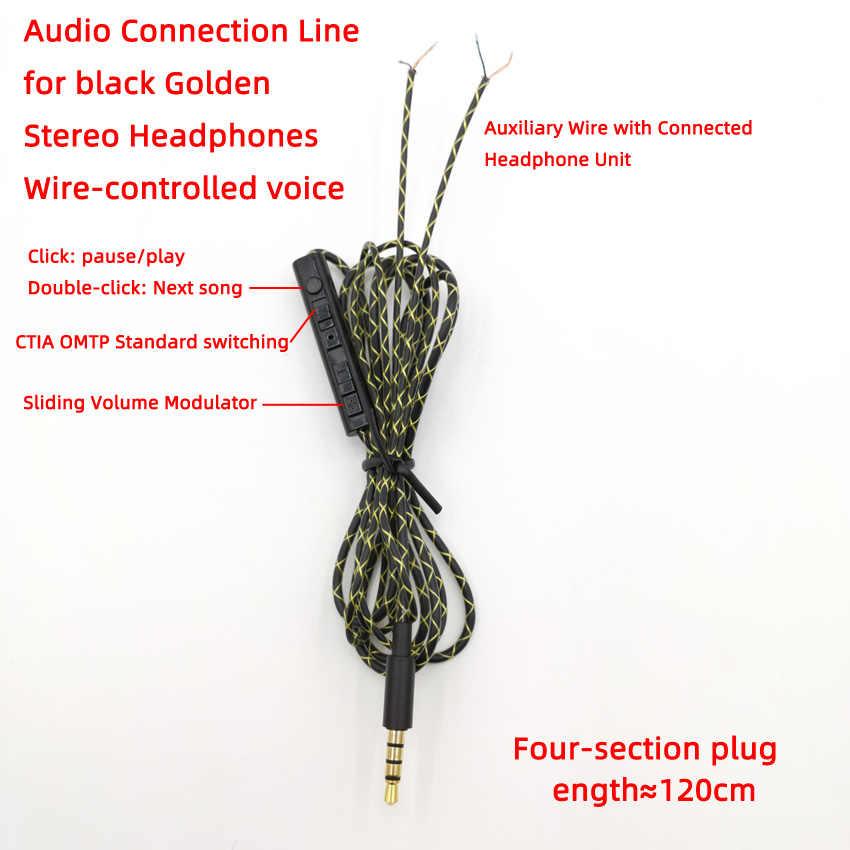 Nouveau 50CM 1.2M haute qualité fil de cuivre argenté fil d'entretien des écouteurs pour bricolage remplacer le câble casque 3.5mm câble Audio
