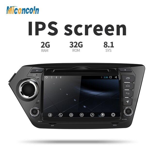 Miconcoln 2G + 32G android 8,1 reproductor de dvd gps para coche radio gps navegación reproductor de vídeo para Kia reproductor multimedia para coche rio k2