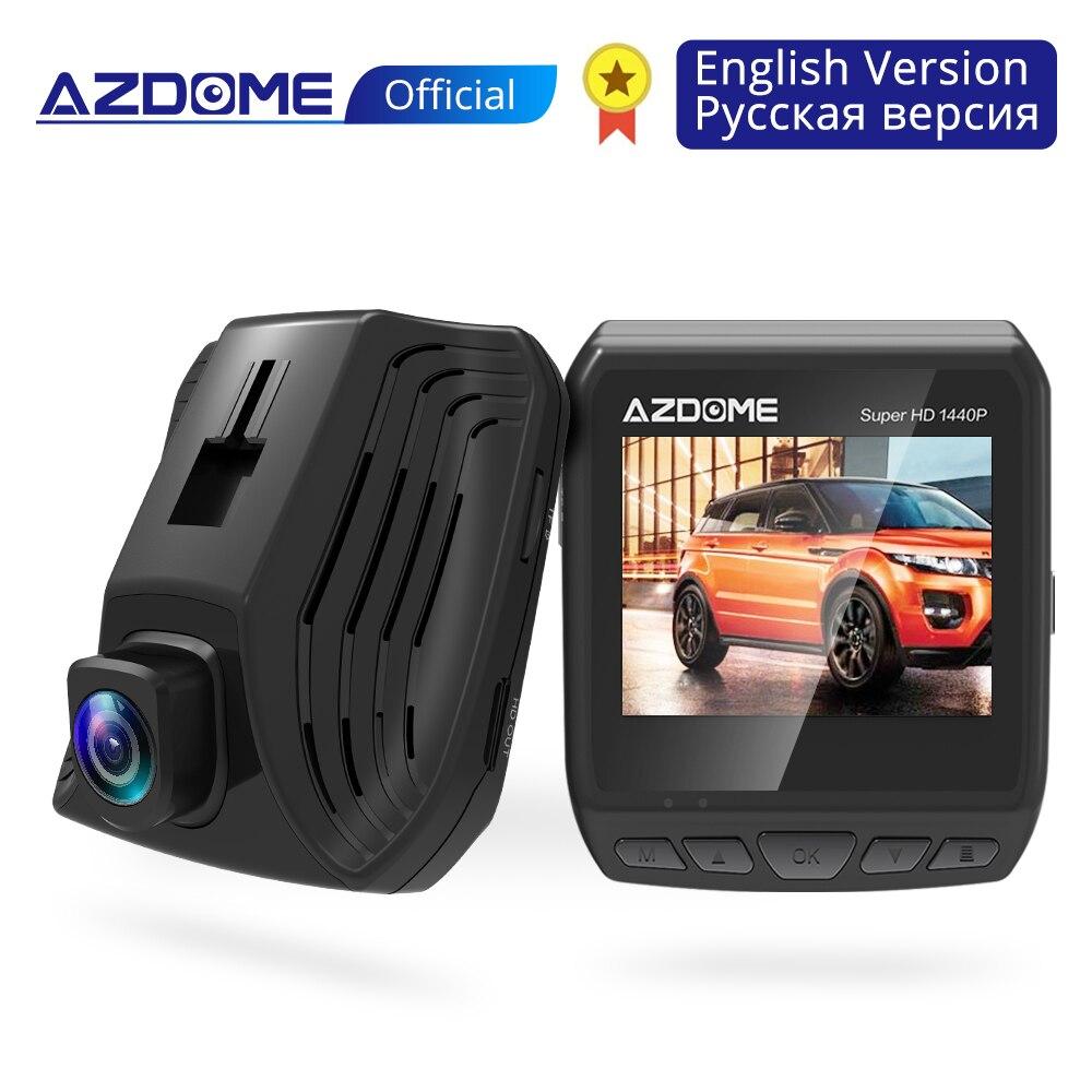 AZDOME DAB211 Ambarella A12 2560x1440 P Super HD voiture DVR tableau de bord caméra enregistreur vidéo enregistrement en boucle tableau de bord caméra Vision nocturne GPS
