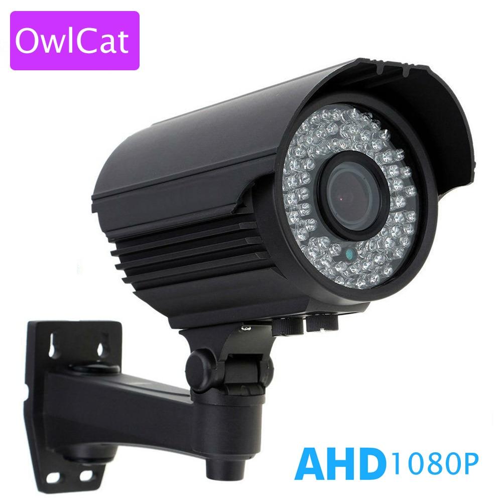 OwlCat CCTV AHD Varifocal 2.8-12mm Manual Zoom Full HD 1080P 2MP AHDH Outdoor Waterproof Bullet Video Surveillance Night Camera