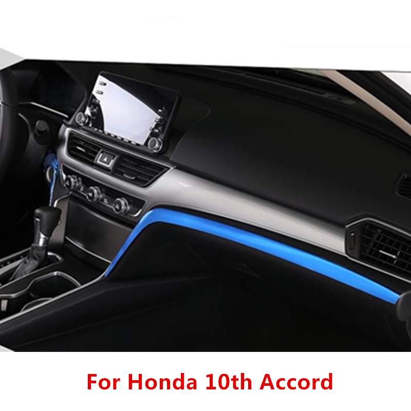 3 Colors For Honda 10th Accord 2018 Stainless Steel Car Front Central Control Panel Side Cover Car Accessories 2pcs