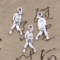 20pcs Charms walking dead zombie corpse 12*27mm Antique pendant fit,Vintage Tibetan Silver,DIY for bracelet necklace