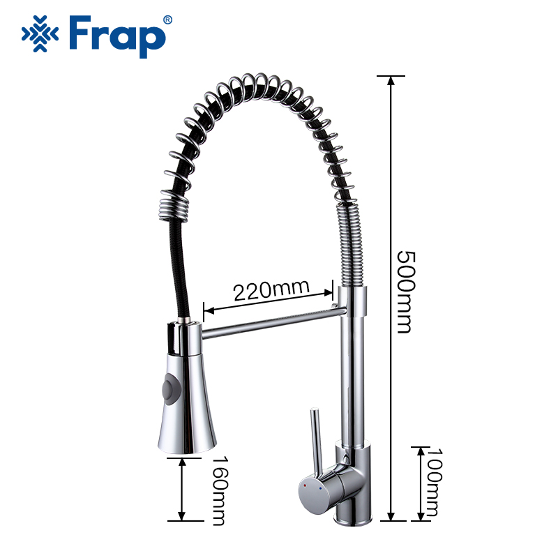 FRAP kitchen faucets brass kitchen mixer faucet water taps cold and hot faucet nozzle water saving sink taps torneira
