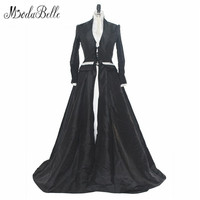 Medieval 2017 Vintage Long Sleeve Lace Black White Wedding Dress Real Photo Satin Gothic Unique Bridal Gown Robe Blanche Mariage