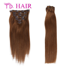 #8 clip in human hair extensions 7A kinky straight clip in hair extensions 7pcs 8pcs lot clip hair extension new arrival on sale