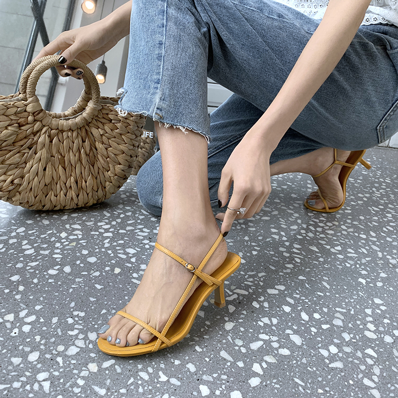 Wilden Schuhe Muss yellow Sandalen black 21 Farbe Mode 5 haben 26 Frauen Übergroßen Leder 5 Stil apricot Cm Rindsleder White Länge Korea red 5 Code Füße Oqg6dwxaf