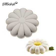 FILBAKE Silicone Cake Molds Flower Shape DIY Dessert Moulds Mousse Decorating Tools for Parsty Baking Accessories