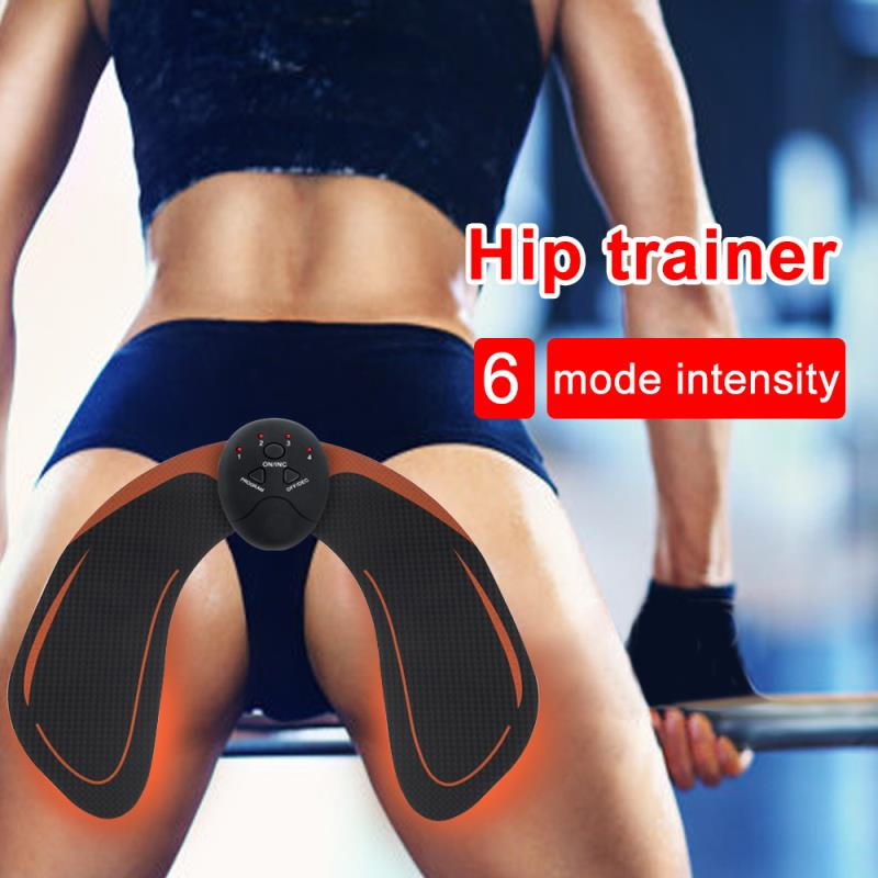 Konmison EMS Hip Trainer Muscle Stimulator ABS Fitness Buttocks Butt Lifting Buttock Toner Trainer Slimming Massager Unisex