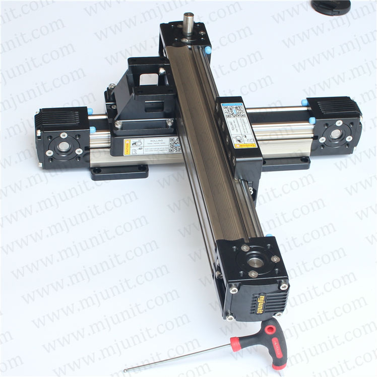 rotating toothed belt drive XYZ-gantry Cylinder Linear Rail Linear Shaft Optical Axis miniature linear slide toothed belt drive motorized stepper motor precision linear application for industry