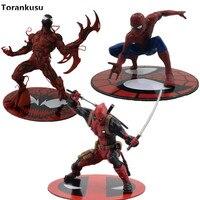 The Amazing SpiderMan Carnage Cletus Kasady Deadpool ARTFX X MEN Cartoon Toy Action Figure Model Anime