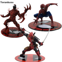 The Amazing SpiderMan Carnage Cletus Kasady Deadpool ARTFX X MEN Cartoon Toy Action Figure Model Anime