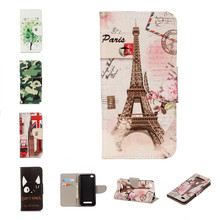 Case For Xiaomi Redmi 4A 5.0 Painted Flower Wallet Leather Case Stand Flip Card Hold Phone Cover Bags For Xiaomi Redmi 4A 4 A