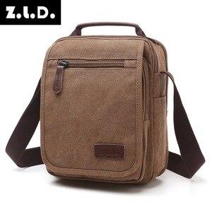 Image 2 - Z.L.D. Новая вертикальная холщовая школьная сумка, мессенджер высокого качества, военная сумка на плечо, вместительная маленькая квадратная сумочка