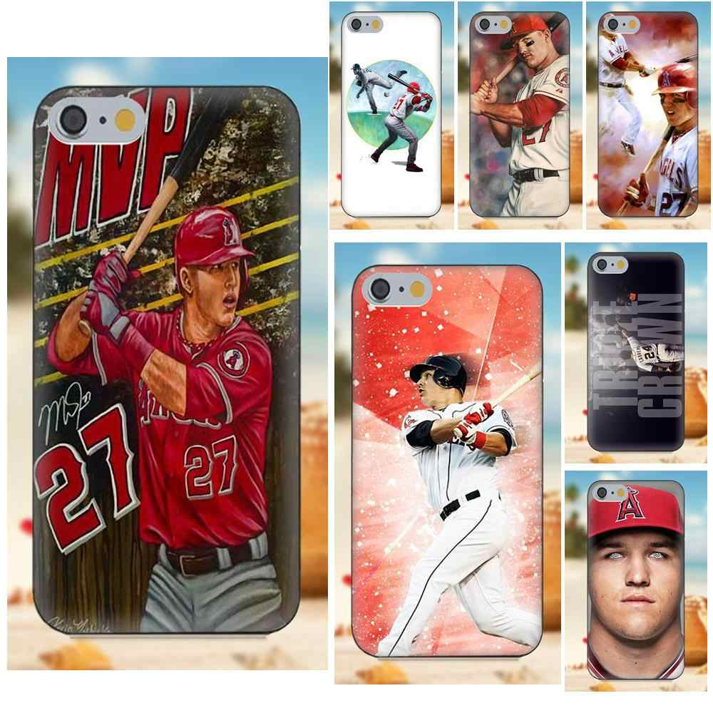 Mike Trout Los Angeles Angels Of Anaheim For iPhone X 4S 5S 5C SE ...