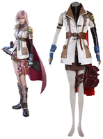 Final Fantasy XIII 13 Lightning Game Cosplay Costume