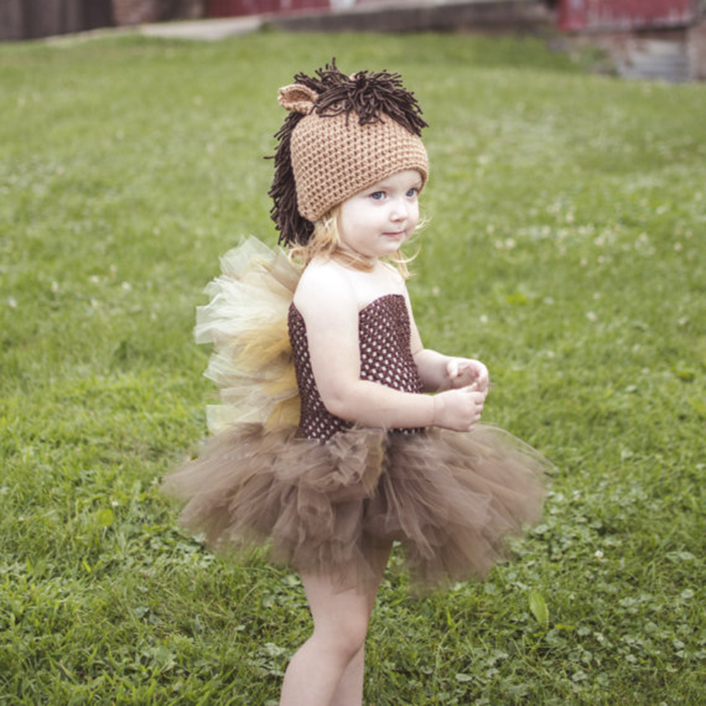 horse tutu dress cute farm animal halloween costume baby girl newborn kids tutu dresses 5 6 7 8 10 12 brown tan mane 2 pt127
