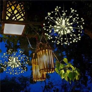 Image 3 - Đèn Led Dây Đèn 120LED 198LED Chống Nước Vòng Hoa Tiên Pháo Hoa Bồ Công Anh Đèn DIY Trang Trí Giáng Sinh Tiệc Cưới