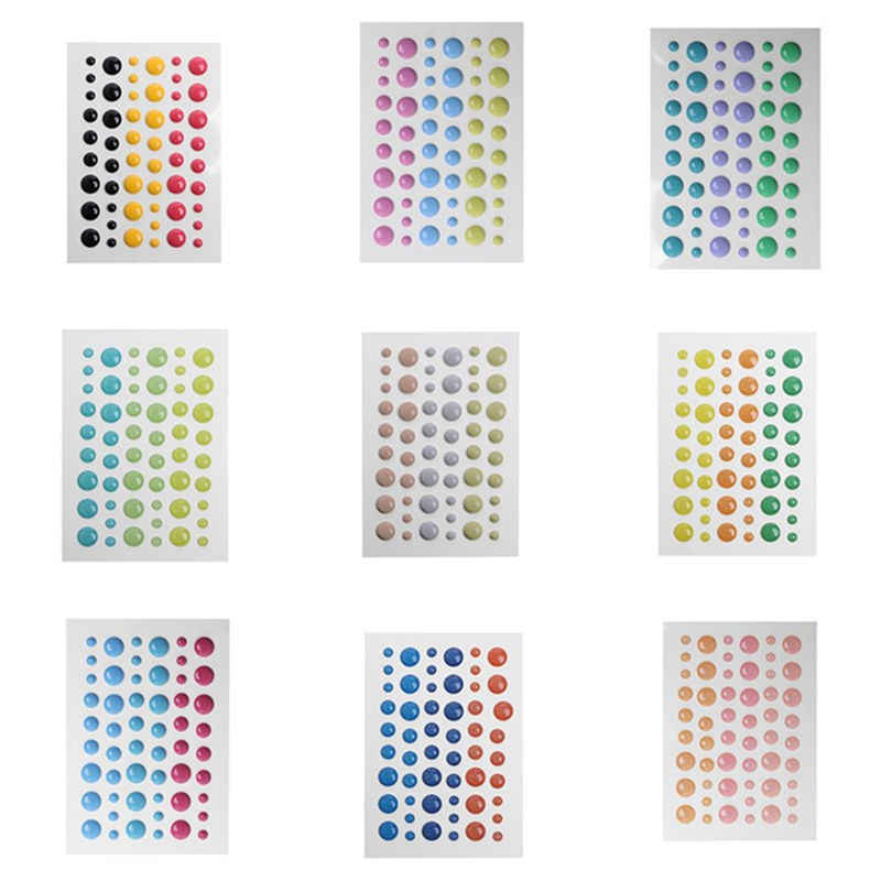 Sugar Sprinkles Self- adhesive Enamel Dots Resin Sticker for Scrapbooking/ DIY Crafts/ Card Making Decoration
