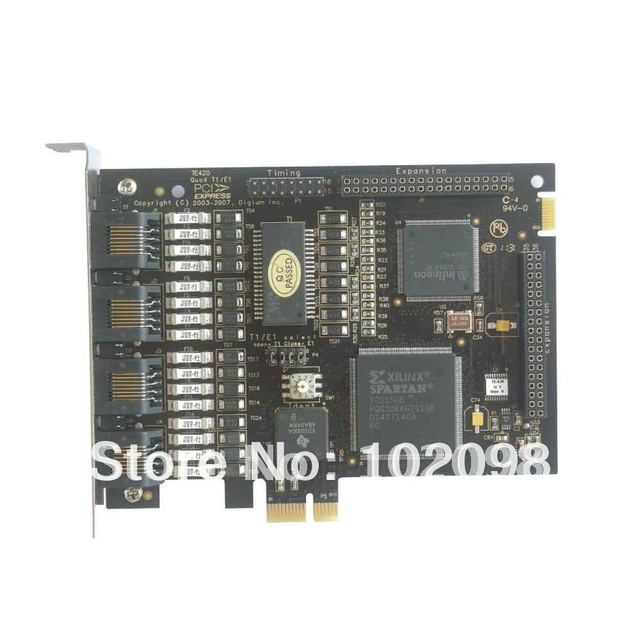 TE220 PCI Express Asterisk 2Port E1/T1 ISDN PRI Card