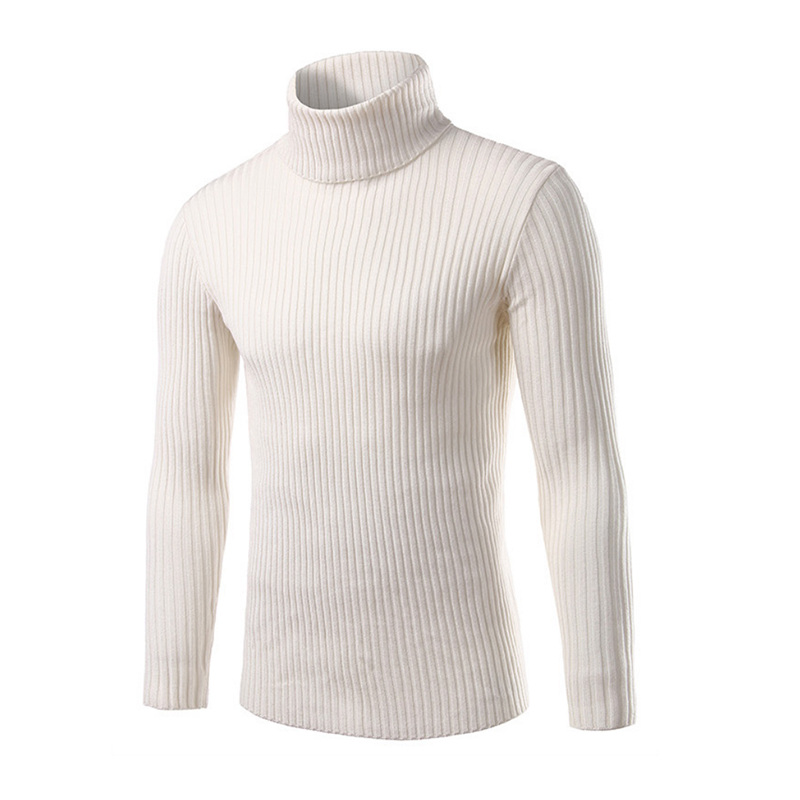 Loldeal  Mens White Sweaters And Pullovers Men Turtle Neck Brand Sweater Male Outerwear Jumper Knitted Turtleneck Sweaters