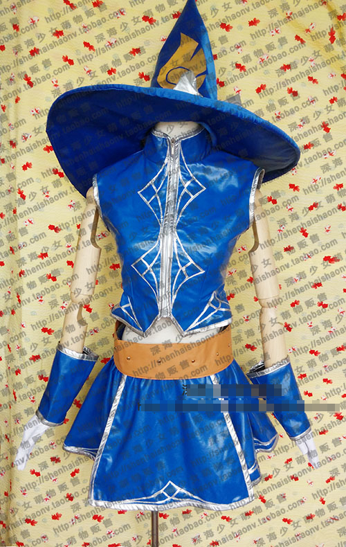 LOL Lux Blue Uniforms Cosplay Costume Free Shipping