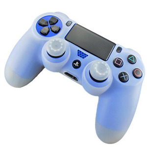 Image 4 - Rubber Gamepad Joystick Thumbstick Grip Cap Protective Skin Cover Case For Sony Playstation Dualshock 4 PS4 Slim Pro Controller