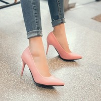Big Size 11 12 13 14 15 16 17 ladies high heels women shoes woman pumps Leisure 100 sets of pointed women's shoes
