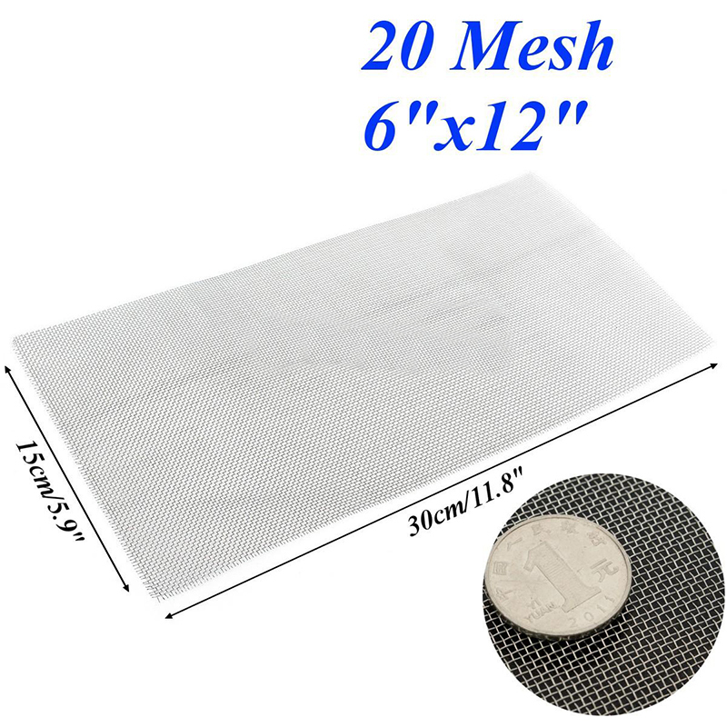 Image 5 - 6x12'' 5/8/20/30/40 Mesh Stainless Steel Woven Cloth Screen Wire Filter Sheet-in Tool Parts from Tools