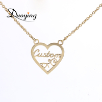 Duoying Heart Necklace Personalized Love Custom Name Necklace Romantic Anniversary Gift Sweetheart Beauty Necklace For Mom