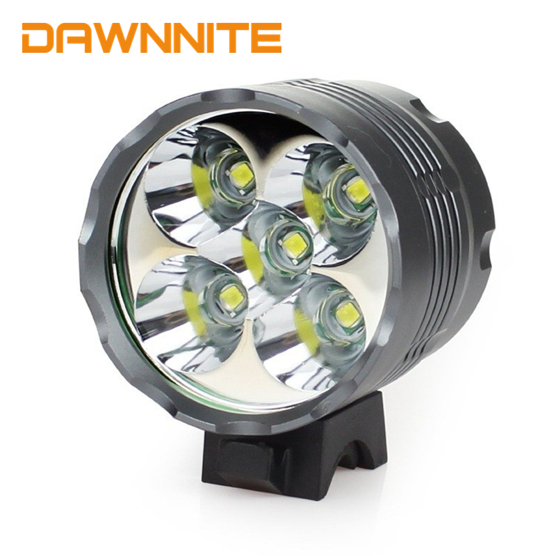 New 5x Cree XM-L T6 Bicycle Light Waterproof Mountain Bike Front Light LED Head Lamp HeadLight 6000 Lumens 3 Mode