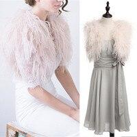 2018 Fur Ostrich Feather Wedding Boleros Bridal Jacket Wraps Luxury Shawl Shrug Capes for Wedding Gown or Formal Dress Vintage