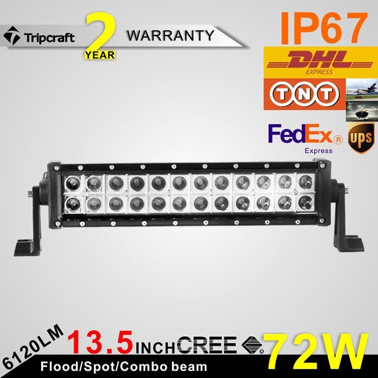 ФОТО 13.5 inch  72W LED Light Bar For Truck Trailer 4x4 4WD SUV ATV Offroad Led Driving Lamp flood Spot combo 12V 24V