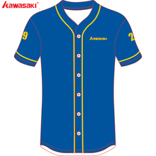 1544ce0a9 Kawasaki Brand Custom Blue Baseball Jersey Men & Women Fans Quick Dry  Softball jerseys High Quality · 2 Colors Available